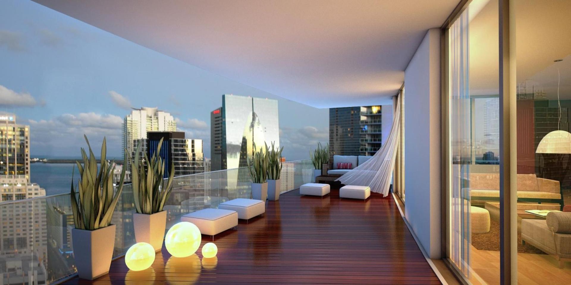 Luxury balcony in a tower