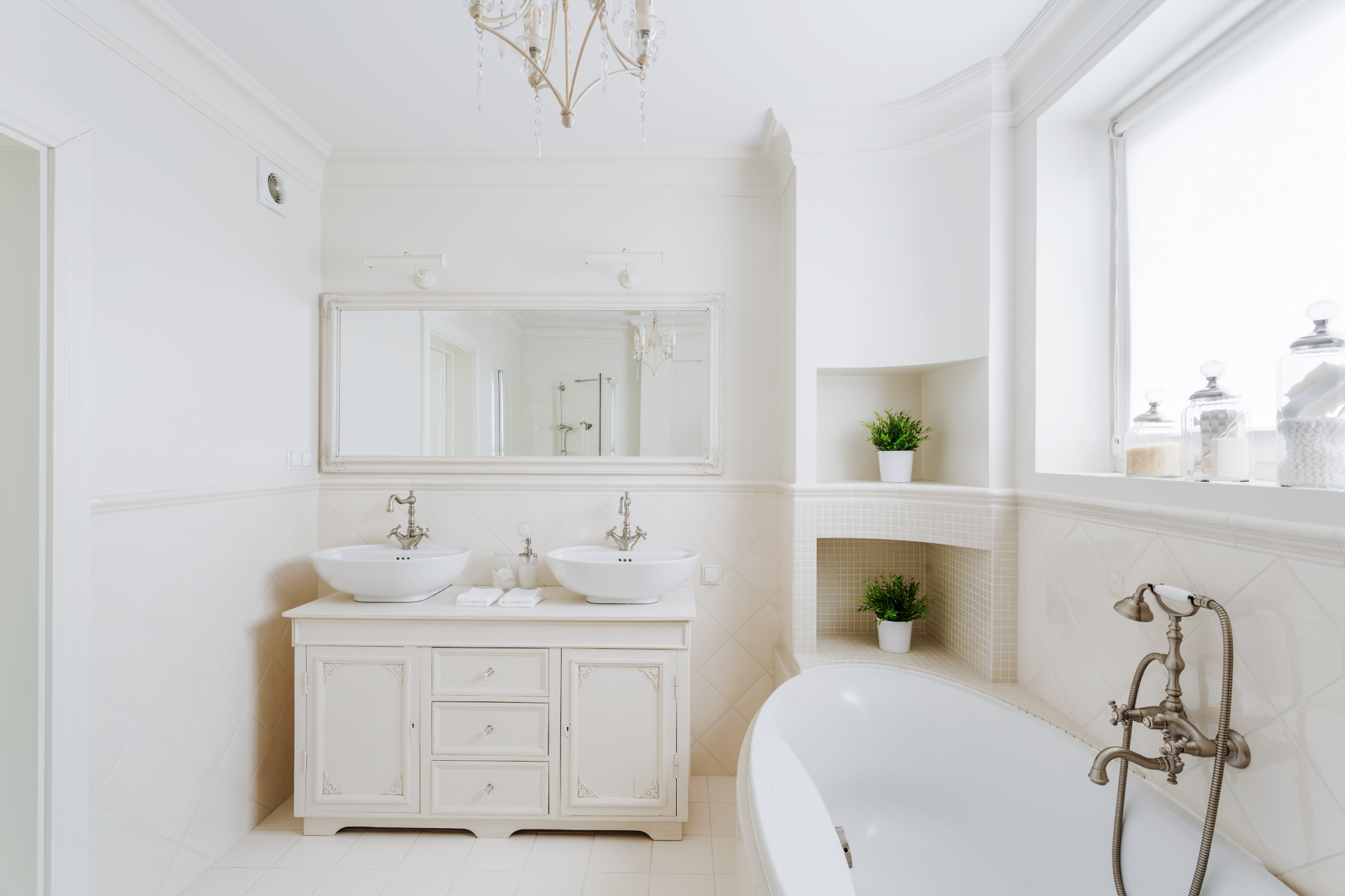 White marble bathroom renovation